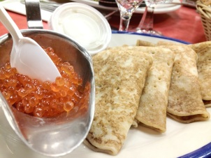Blini (Crepe, Caviar, Sour Cream)